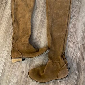 Free People thigh suede leather boots size 6(36)